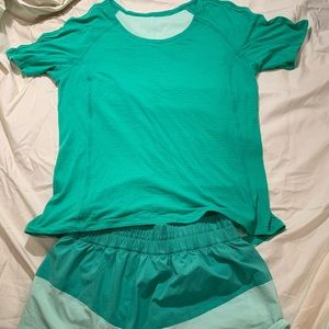 Lululemon Green Tennis Outfit